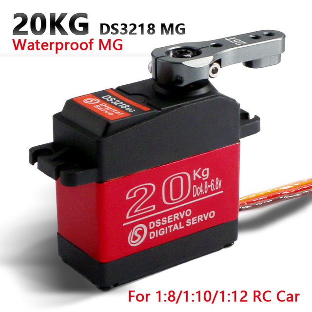 1 x Waterproof servo DS3218 Update and PRO high speed metal gear digital servo baja servo 20KG/.09S for 1/8 1/10 Scale RC Cars|digital servo|rc servoservo ds3218 -