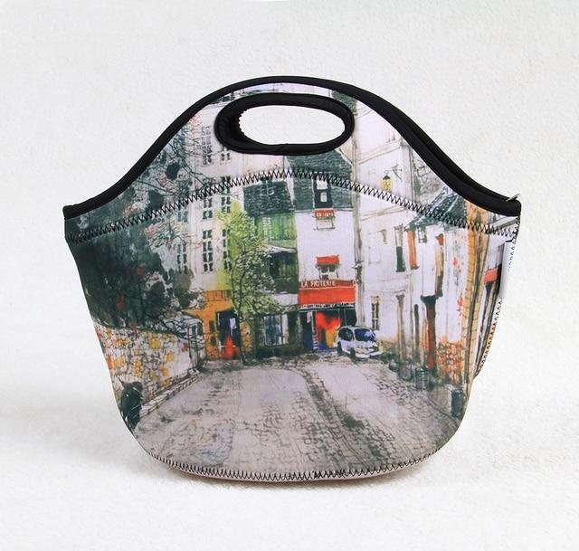 Neoprene portable picnic bag, insulated women use cooler bag