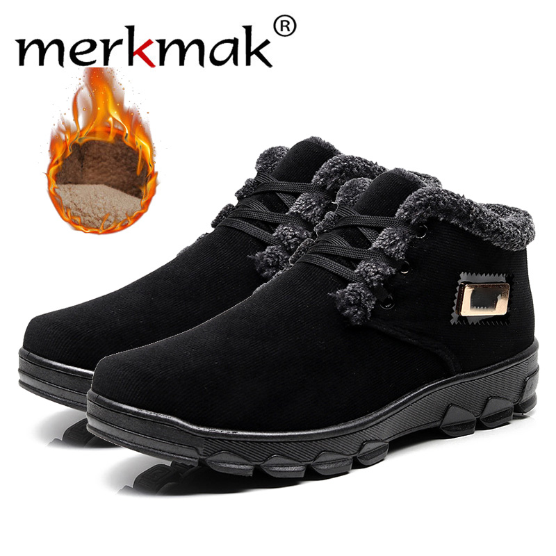 Merkmak Casual-Shoes Brown Male Black Men Fashion Autumn/winter for Comfortable Warm