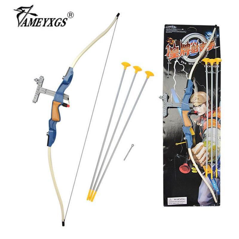 1set tir à l'arc enfants ventouse flèche arc et flèche ensemble sécurité aspiration flèche tête enfant équipe entraînement tir pratique jeu arc cadeau