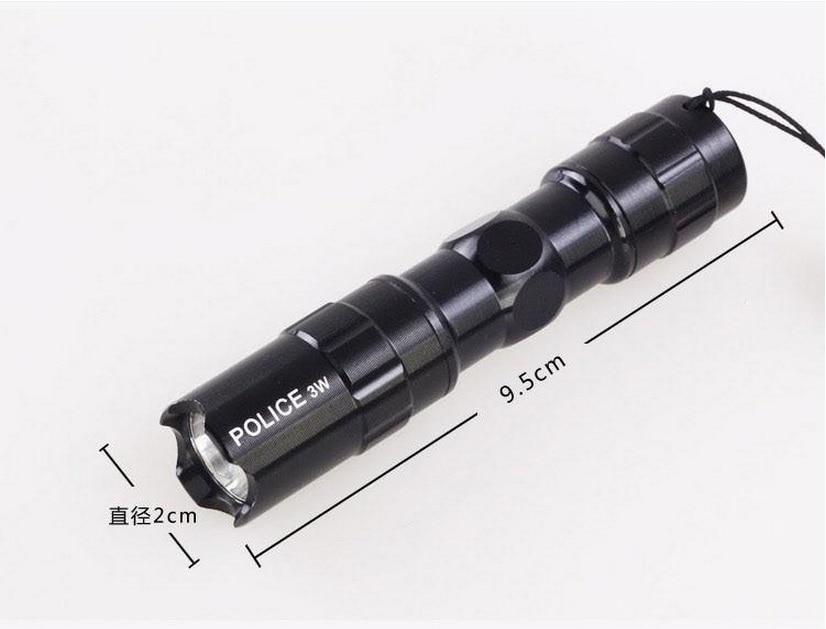 Aluminium alloy small flashlight LED mini flashlight 5 strong light flashlight black for AA battery Daily carrying hiking diving
