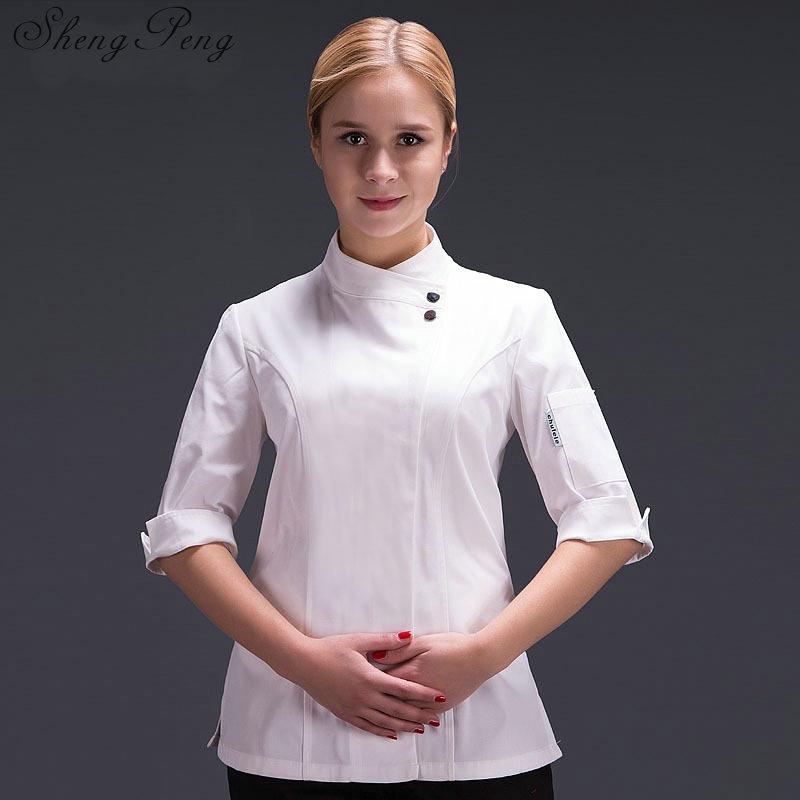 Chef Jacket Chef Uniform For Women Cooks Kitchen Colors High Quality Chef Uniforms CC364