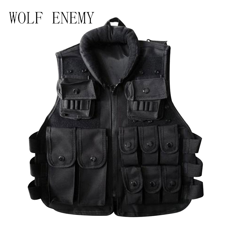 Tactical vest Black Kids Tactical Vest For Outdoor Game Training Scouting Cosplay Protective Equipment Children Vests Clothing