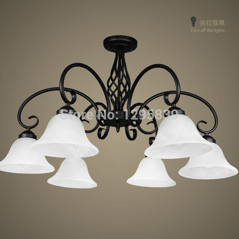 Multiple Chandelier wrought iron lamps European model lower living room bedroom dining room den lamp New Promotions ZX64 lo1019 multiple chandelier black white bedroom living room wrought iron chandeliers 5 6 8 heads personality lamp zag