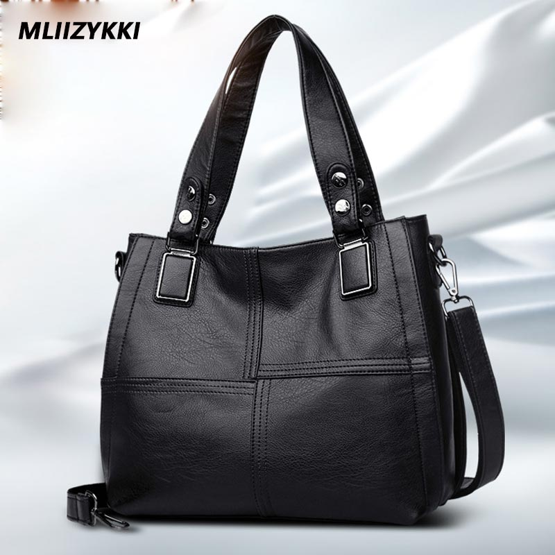 MLIIZYKKI Women Handbag Female PU Leather Bags Handbags Ladies Portable Shoulder Bag Office Ladies Hobos Bag Totes mliizykki lace flower handbags women shoulder bag spring casual hobos tote