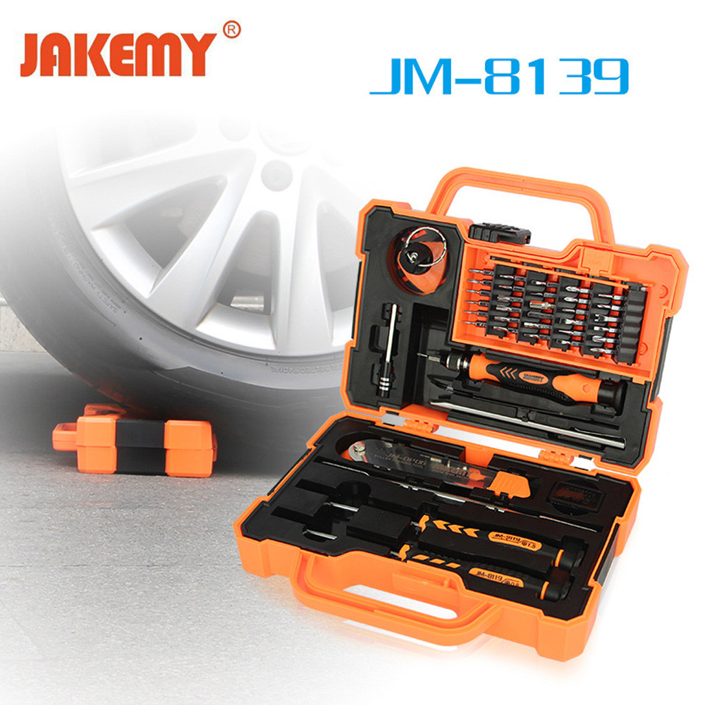 JAKEMY 45 in1 Multi Bit Precision Screwdriver Set with Tweezers Spudger for Laptop Mobile Cell Phone Tablet Hand Repair Tool Kit 45 in 1 electronics repair tool kit multi bits screwdriver set with tweezers spudger for laptop cellphone tablet repair