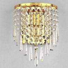 European Led Crystal Wall Lamp Bedside With Switch Bedroom Wall Lights  Living Room Stairway Indoor Lighting цена