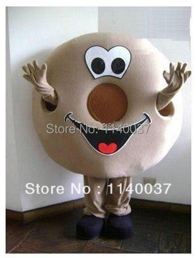 Mascotte professionnelle beignet mascotte Costume Nonut nourriture personnages Costume Halloween enfants fête cadeau robe, livraison gratuite
