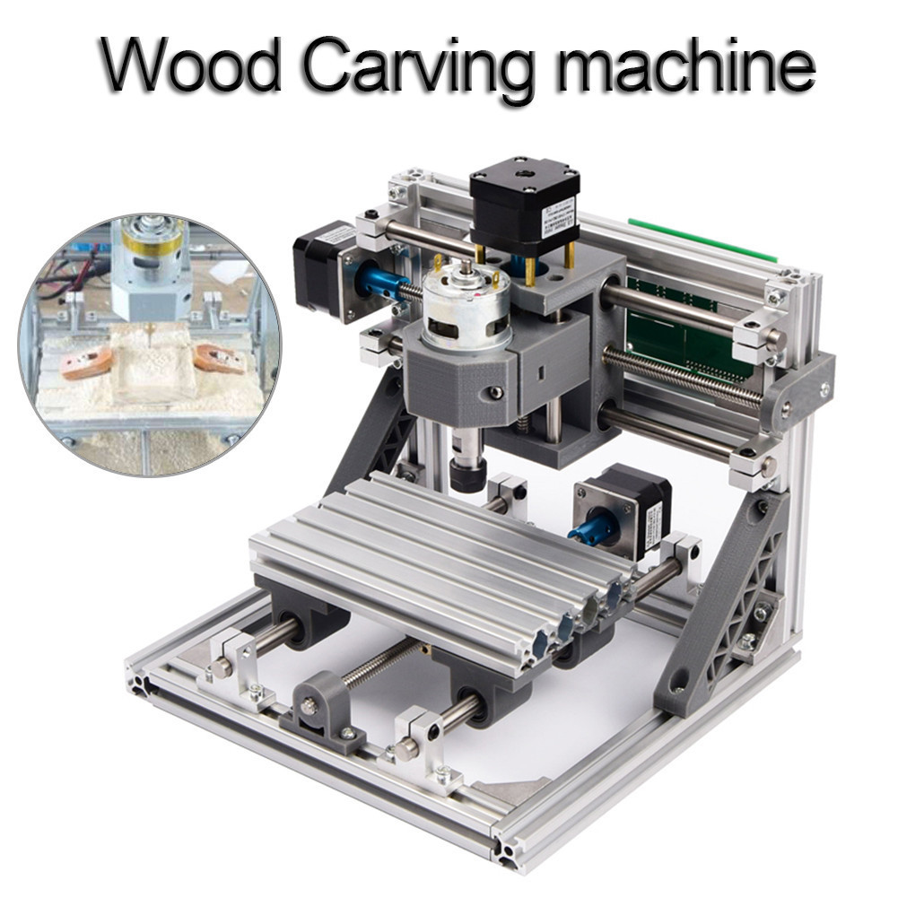 CNC 1610 Standard Mini CNC Router Engraving Machine DIY Parts PCB PVC Milling Machine Wood Carving Machine 2020v diy cnc router kit mini milling machine 3 axis brass pcb cnc wood acrylic carving engraving router pvc pyrography