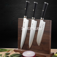 High Quality Solid Wood Knife Holder Kitchen Supplies Magnetic Knife Holder Tool Storage Rack Double sided Suction Knife Stand