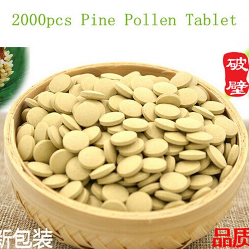 2000PCS Organic Pine Pollen Powder Tablet 99 Percent Broken Cell Wall2000PCS Organic Pine Pollen Powder Tablet 99 Percent Broken Cell Wall