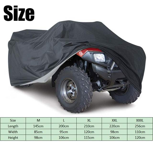 210T 190T Car Cover Universal Waterproof Dustproof Rain Dust UV Protector Quad ATV Vehicle Scooter Motorbike Size M-XXL