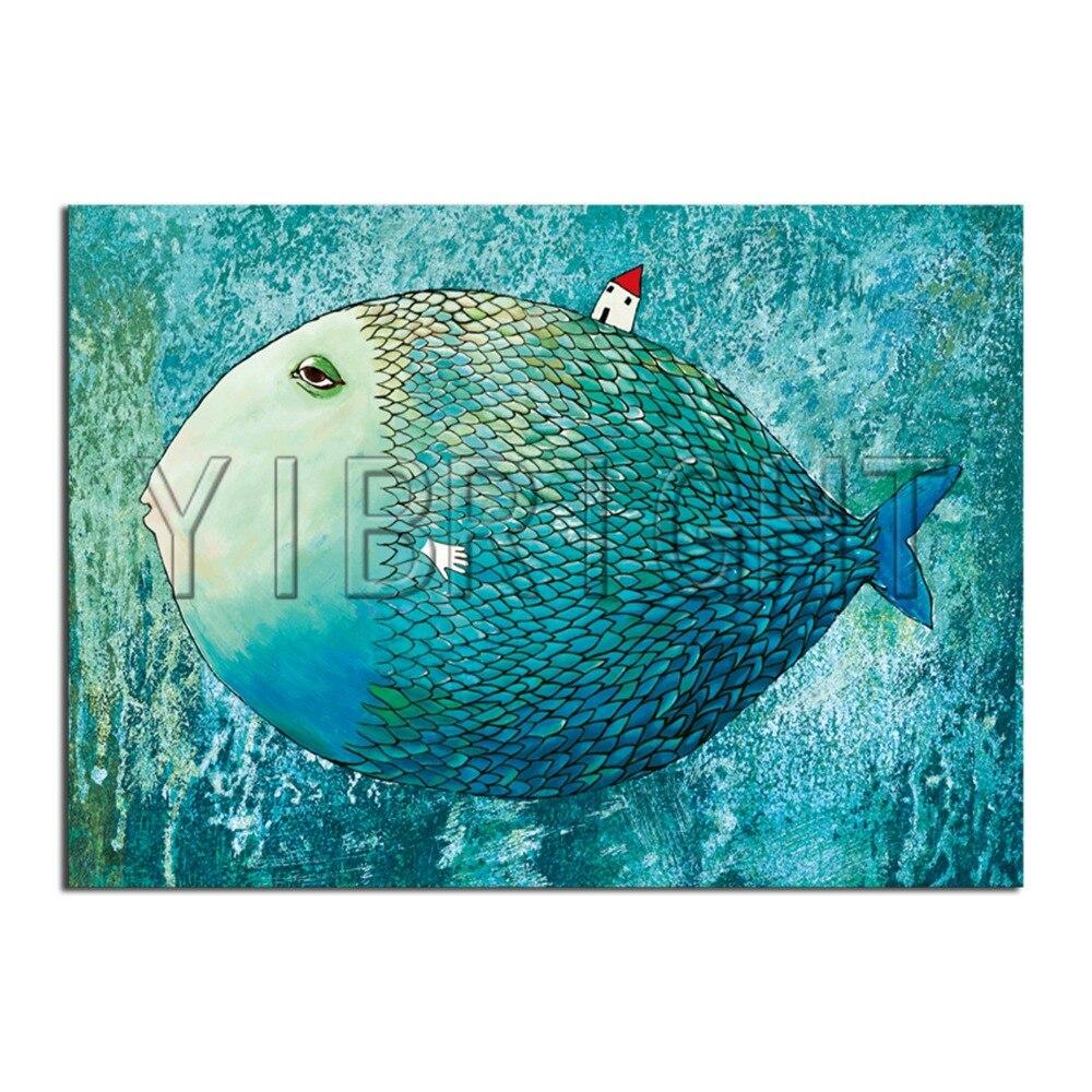 5D DIY Diamond embroidery big fish Full Square Diamond mosaic house Full Round Diamond painting Cross stitch animal