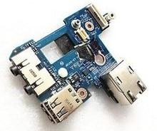 100% новый DELL E6400 e6410 небольшая USB Панель Интерфейс сетевой карты плата аудио LS-5473P