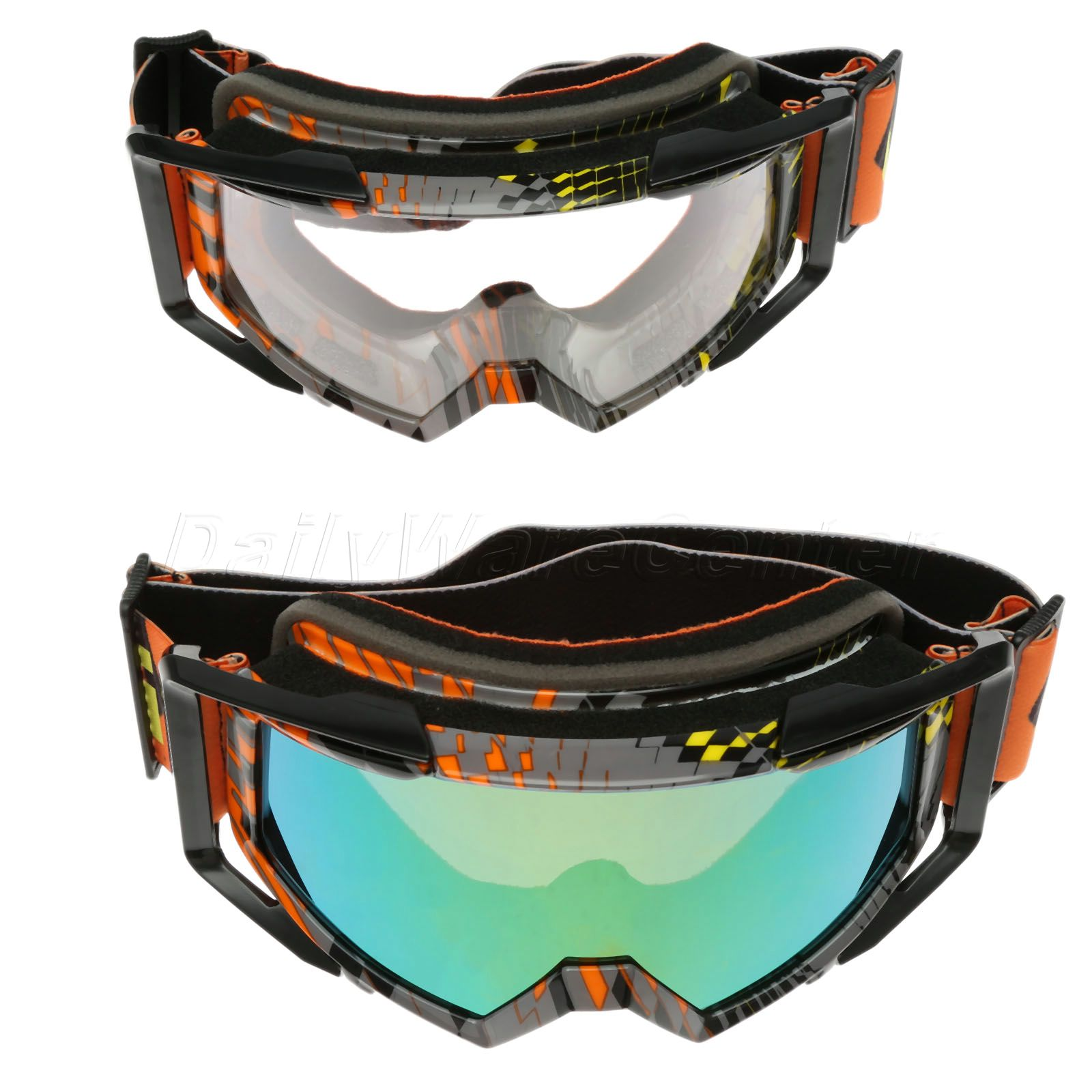 UV Protection Motorcycle Goggles Motocross Glasses Skiing Skate Flexible Sunglasses Cycling Off-Road Eyewear Bike ATV Glasses