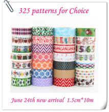 342 Patterns for choice TOP Best Selling 10pcs lot Decorative Adhesive Paper Tape and flower masking