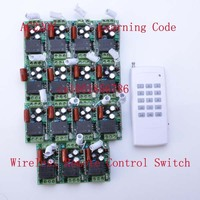 220V 15CH RF Wireless Electric Garage Gate Light Wireless Remote Control Switch Transmitter Radio Receive Controller
