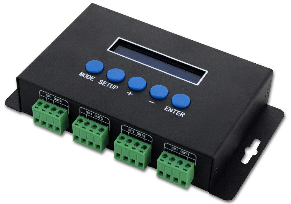 Contrôleur de lumière Artnet à TTL SPI/Ethernet-SPI/DMX Pixel 680 Piexl/CH 4CHx7A pour grand projet pixel haute densité