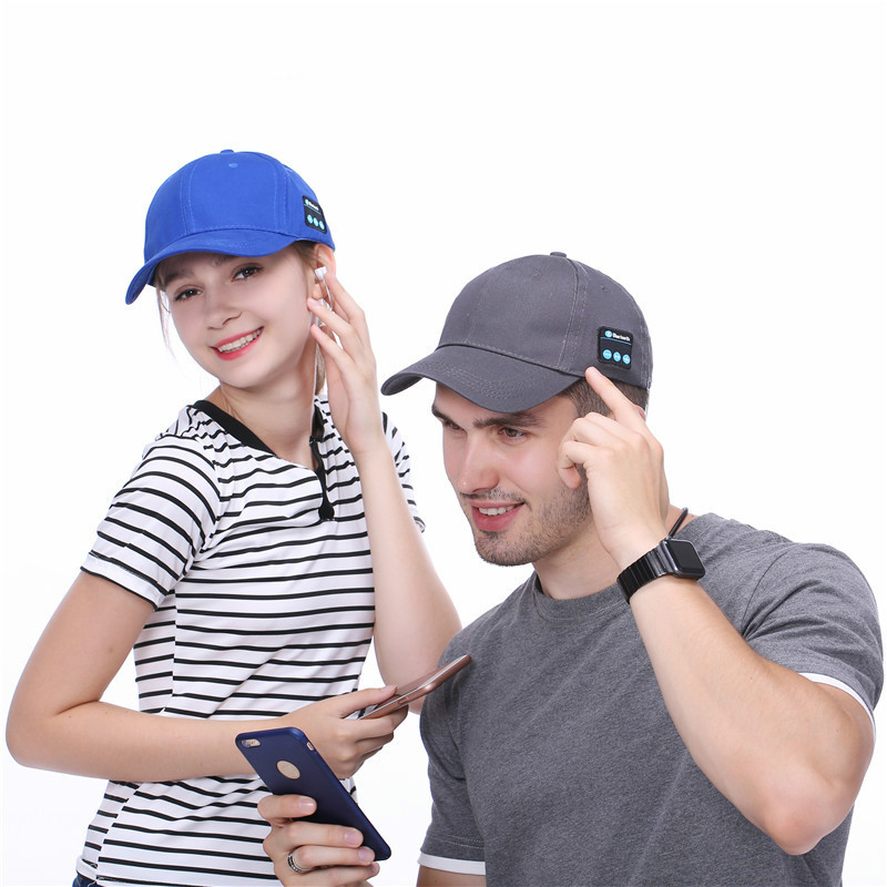 Men Women Bluetooth Headphone Cap Wireless Sports Earphone Hat Bluetooth V4.1 Music Hat Cap Speaker Earphones Baseball Hats