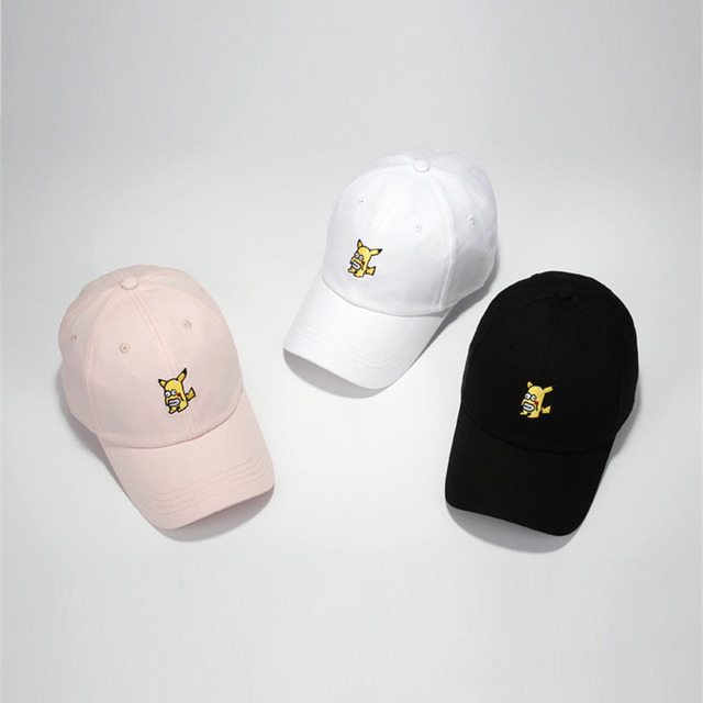 Hot Game Pokemon GO Pocket Monster Pikachu Embroidery Baseball Cap 3 Color  Adjustable Streetwear Cap Hat for Women Men Wholesale. Price  2503571d579f