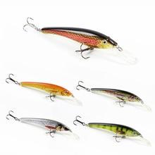 5 Color 9cm/5.7g Hot Sale Minnow Fishing Lure Top Quality Fish Bait Vivid Crankbaity Fishing Tackle Wobbler Pesca HML02B