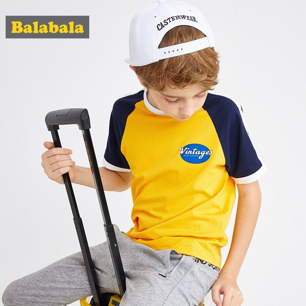 T-Shirt Boys Balabalachildren Clothing Short-Sleeve Cotton Summer New Big Tide Breathable