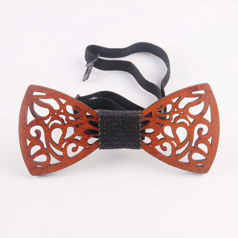 Hot Men Handmade Wooden Bow Tie with Adjustable Strap for Anniversary Birthday Wedding HD88