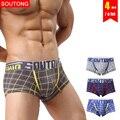 Soutong Male Underwear 4Pcs/lot Men Underwear Boxers Shorts Cotton Men Boxers Cueca Underpants Men Calzoncillos hombre stp02