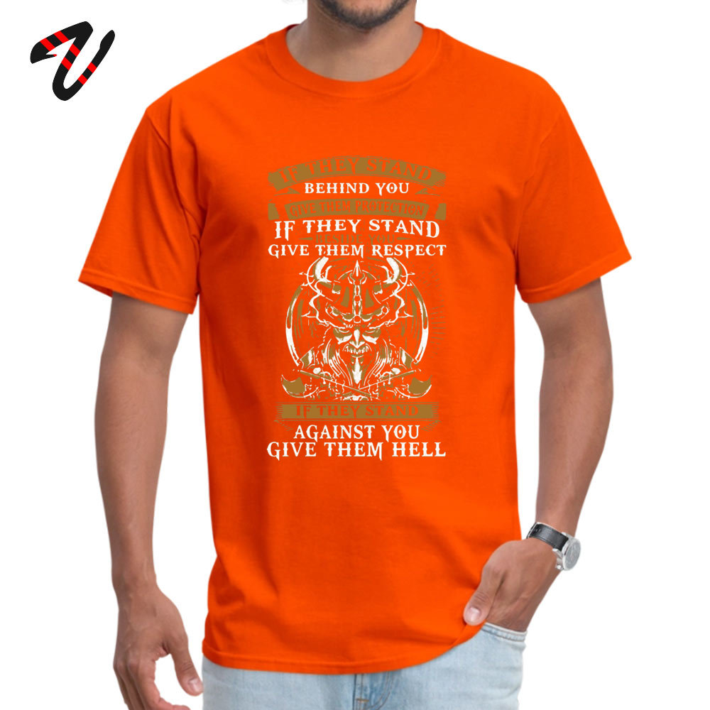 Unique Tops & Tees Oversized Short Sleeve Mens Tshirts TpicOriginaltitle Europe Summer/Autumn Tops Tees O Neck stand behind you -1362 orange