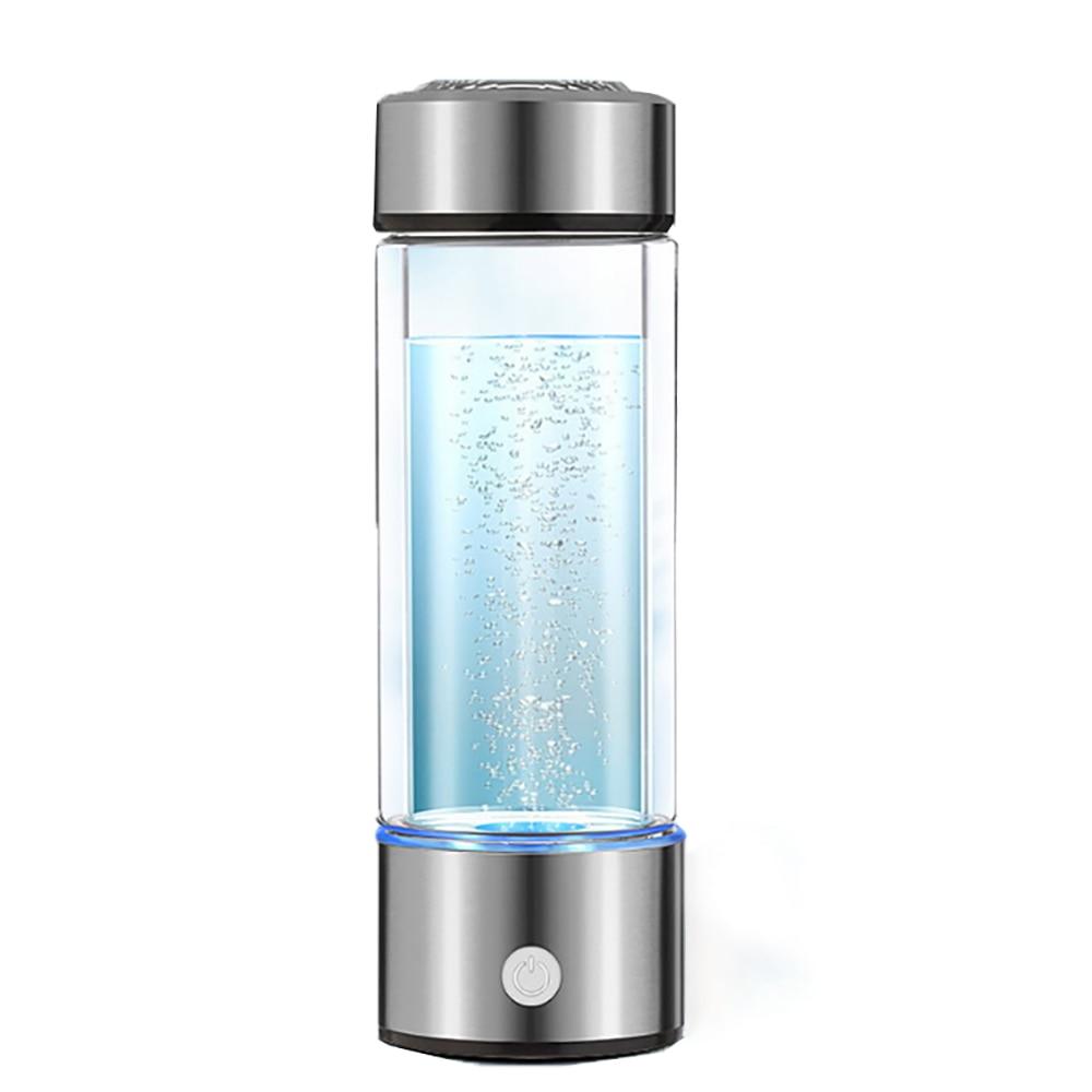 500 600ML Portable Hydrogen Generator Water Filter Ionizer Pure H2 PEM Rich Hydrogen alkaline Bottle Electrolysis