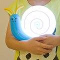 Chargable Usb pequeño caracol llevó bebé luz de la noche de noche de la historieta luz de la noche azul/amarillo/color de rosa/rojo DY-1085