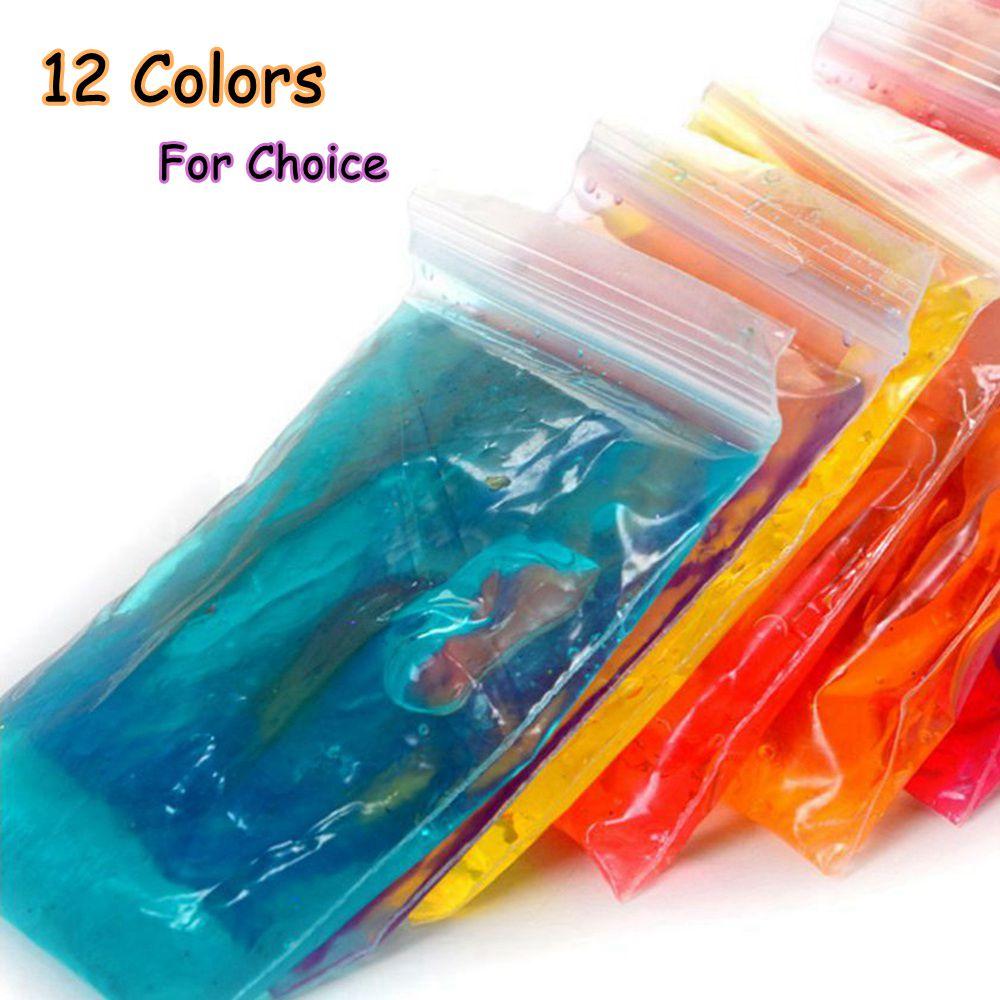 30g/bag Crystal Mud Play Fimo Polymer Clay Air Dry Plasticine Magic Playdough Playdough Children's Crystal Soil Bubble Clay Toys