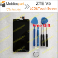 ZTE V5 LCD Screen 100% Original LCD Display+Touch Screen+Tools Replacement Screen For ZTE Red BULL U9180 V9180 N9180
