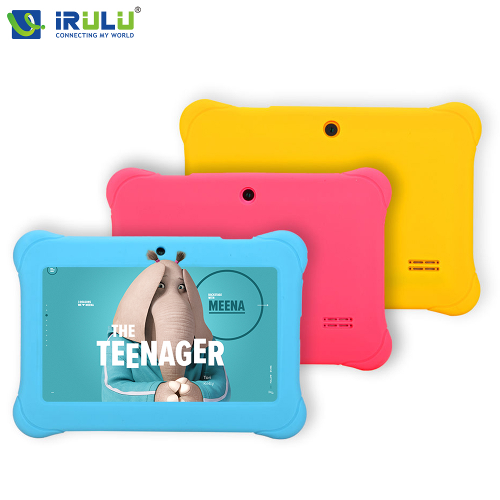 iRULU eXpro Y1 7 Babypad 1024*600 HD Android 4.4  Tablet PC Quad Core 1G RAM 8GB ROM Dual Camera Wifi Tablet for Kids irulu expro tablet x1 7 1024 600 hd allwinner a33 1 5ghz quad core dual camera android 4 4 8gb rom w russian keyboard case