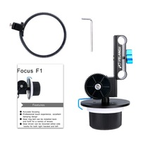 YELANGU Follow Focus F1 met Verstelbare Gear Ring Riem voor DSLR Camera/DV/Camcorder/Film/Video camera, Past Schouder Suppor