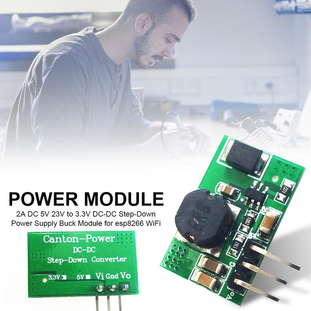 2A DC 3.5V 23V to 3.3V DC-DC Step-Down Power Supply Buck Module for esp8266 WiFi(China)