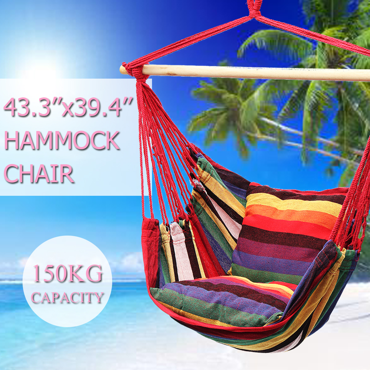 Sgodde Outdoor Furniture Hammock Canvas Cradle Chair