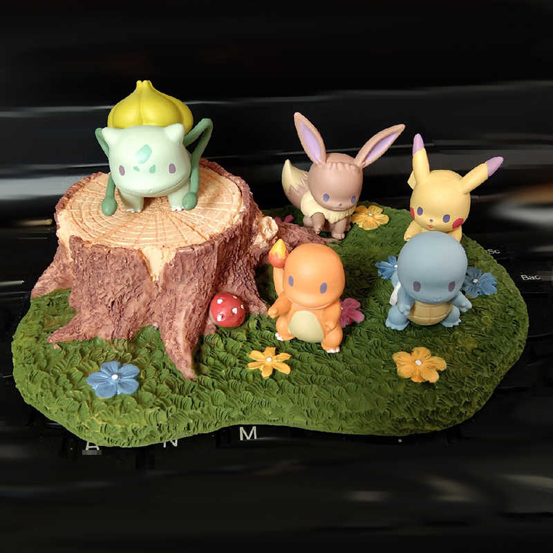 Takara Tomy Figura de Ação Pokeman Pikachu Charmander Boneca Cabeça Grande Ex Elf Bola Brinquedo Das Crianças Presentes Brinquedo