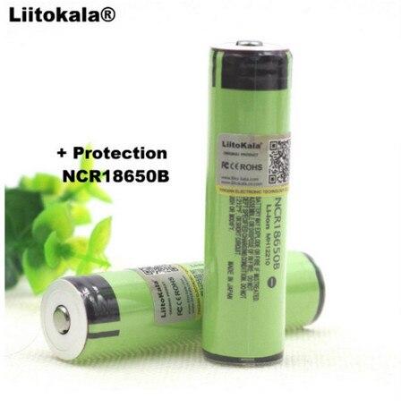 2 шт.. Liitokala Новый Оригинальный NCR18650B 3.7 В <font><b>3400</b></font> мАч + защита <font><b>18650</b></font> литиевая батарея с PCB Фонарь Батареи