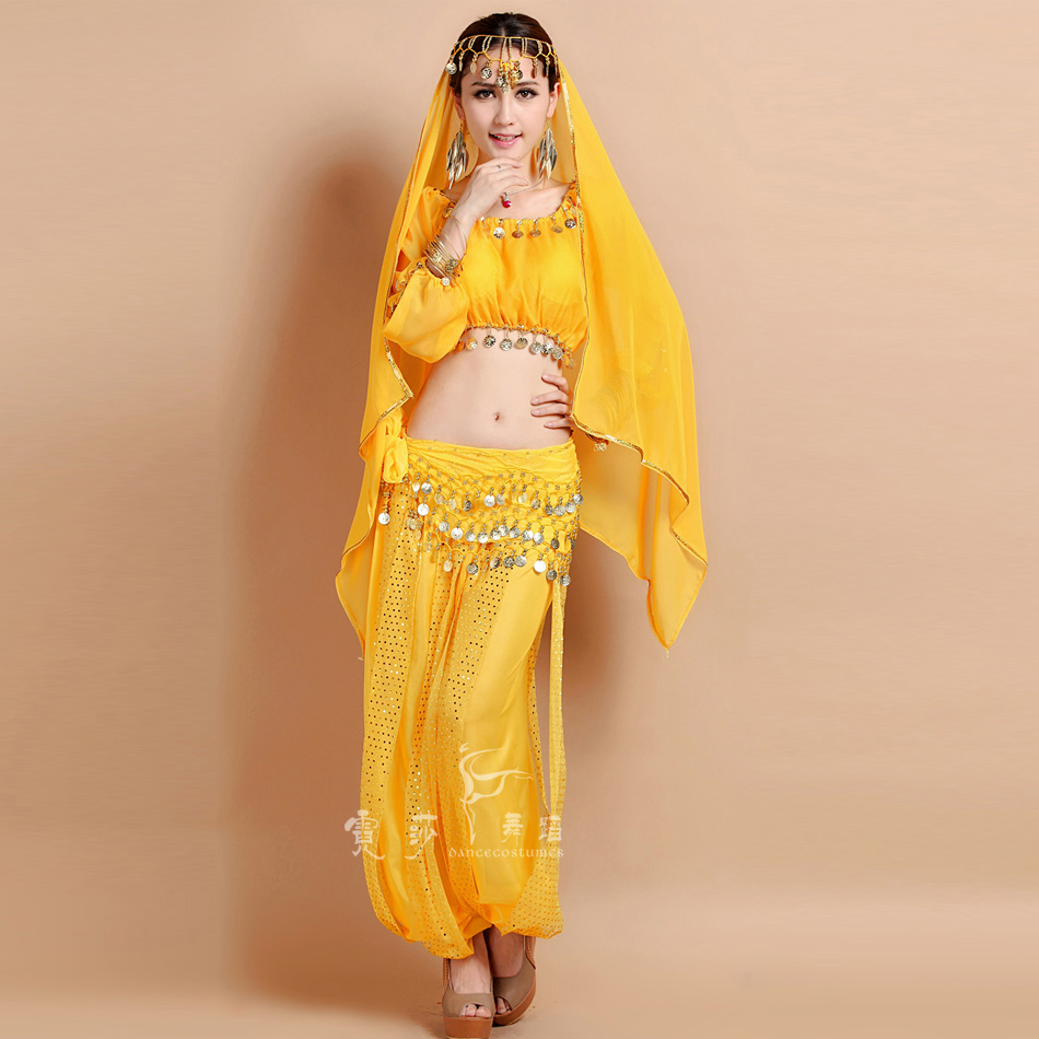 2017 New Belly Dance Costume Bollywood Costume Indian Dress bellydance Dress Womens Belly Dancing Costume Sets Tribal Skirt