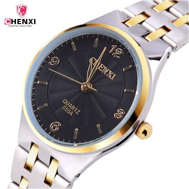 Las mujeres relojes de lujo calendario reloj de pulsera mujer impermeable de moda completa de acero fecha relojes de pulsera de cuarzo para las mujeres reloj 45