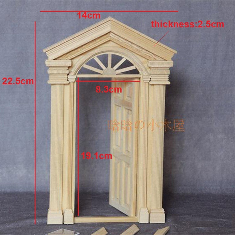 6pane door doll house 4