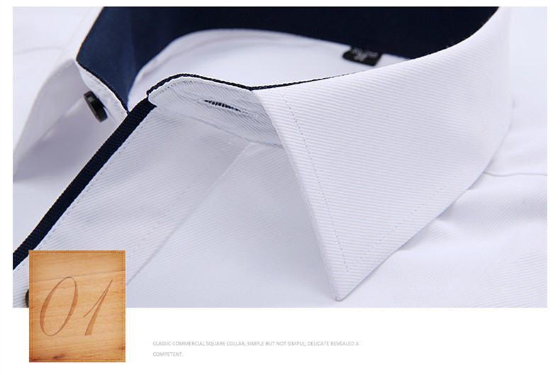 DAVYDAISY High Quality Men Shirt Long Sleeve Twill Solid Formal Business Shirt Brand Man Dress Shirts DS085 19