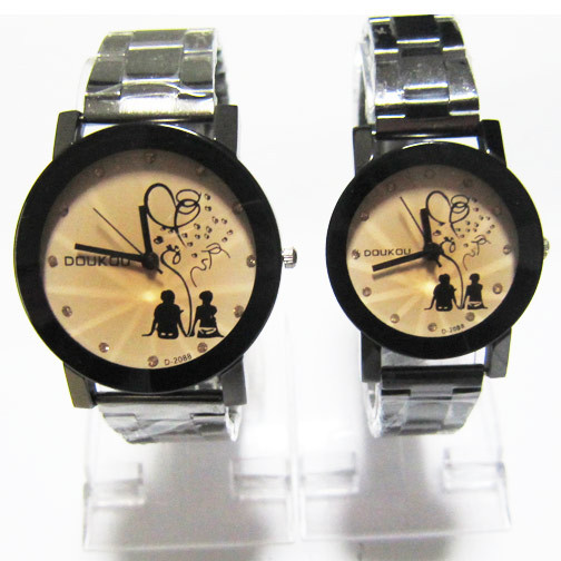 ef57f892ae1 2013 Personality romantic Fashion New Love Couple Holding Hands Pattern  Stainless Steel Band Couple Watches Free Shipping