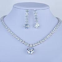 شحن مجاني بالجملة الأزياء الزركون قلادة قلادة الأقراط والمجوهرات مجموعة أزياء الزفاف والمجوهرات مجموعة GLN0027