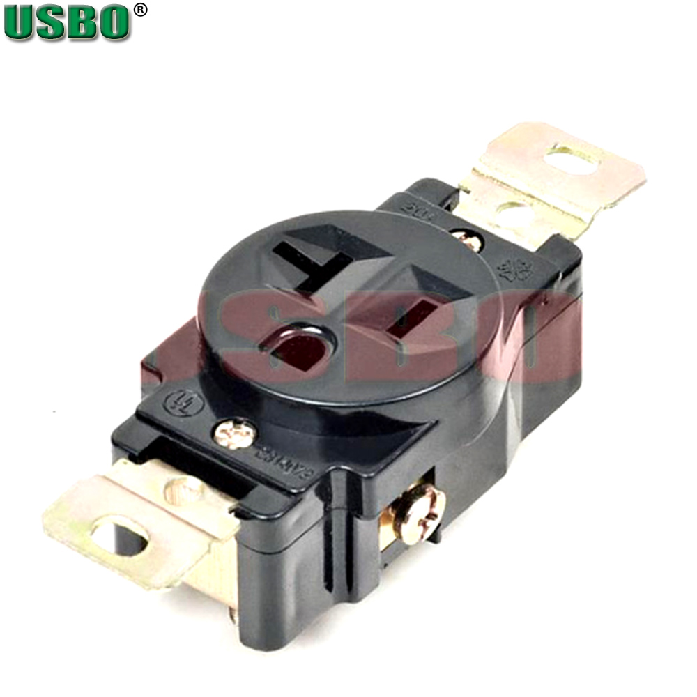 american 120v 20a 3 hole nema 5 20r us single generator outlet anti off industry power socket plug inline wire connector [ 1000 x 1000 Pixel ]