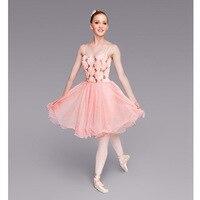Pink Flower Top Ballet Tutu Dresses For Women Or Children Ballet Lyrical Dress Adult Ballet Bodysuit
