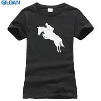 Summer The New Fashion Women S Crew Neck Short Design T Shirts Horse With Rider
