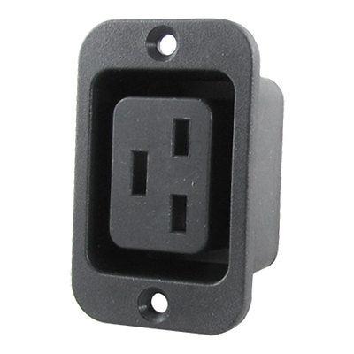 AC 250V 16A 2 Terminals IEC320 C19 Female Power Plug Socket 2 in 1 16a 250vac iec320 series c19 plug c20 socket for power cord