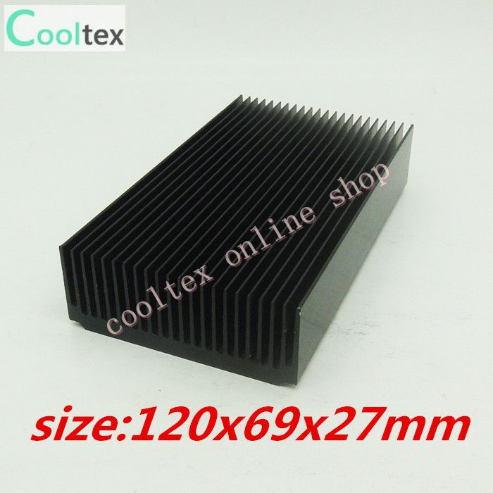 120x69x27mm  Aluminum radiator High power HeatSink for electronic Chip CPU GPU VGA RAM LED IC Heat Sink  COOLER cooling 20pcs lot aluminum heatsink 14 14 6mm electronic chip radiator cooler w thermal double sided adhesive tape for ic 3d printer